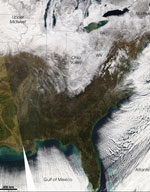 MODIS reflectance image of the Northeastern US
