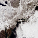 MODIS snow map of the eastern United States