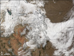 MODIS reflectance images of Colorado