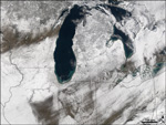 MODIS reflectance image of the Midwest US