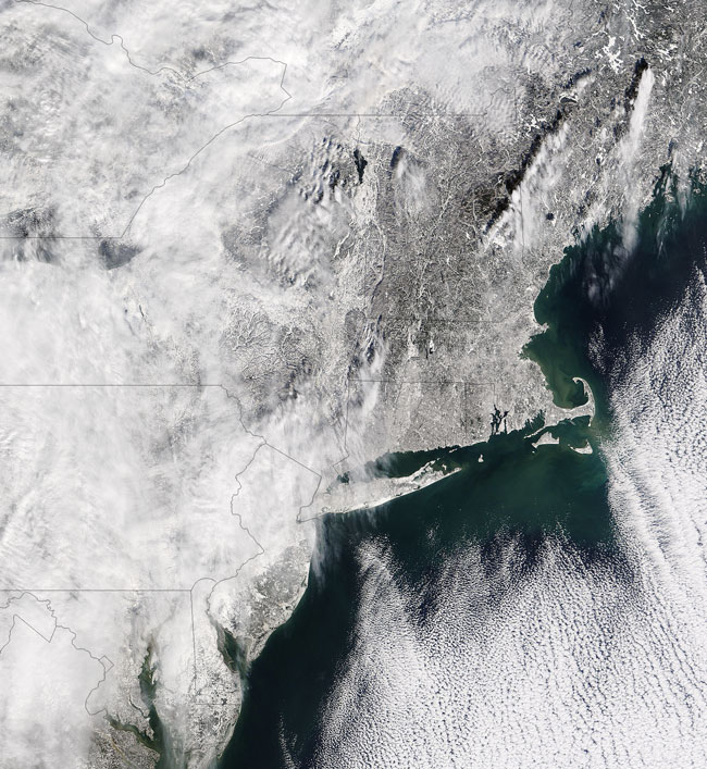MODIS image of the Northeastern United States