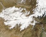 MODIS reflectance image of Afghanistan