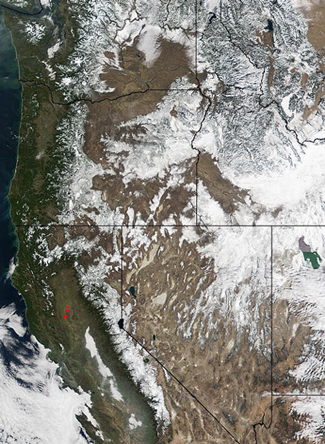 MODIS image of the Western United States