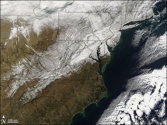 MODIS image of the Eastern US