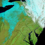 MODIS reflectance image of the Northeast US