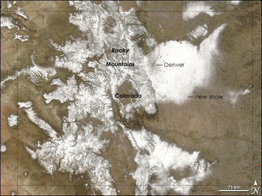 MODIS image of Colorado