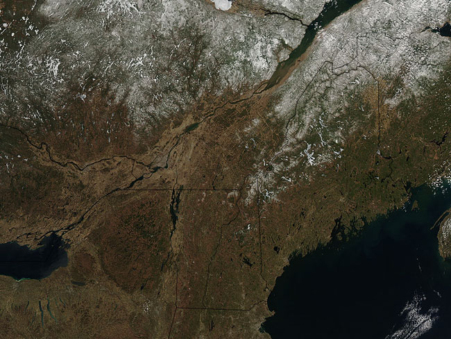 MODIS image of the Northeast US