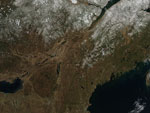 MODIS reflectance image of the Northeast U.S.