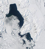 MODIS reflectance image of Svalbard, Arctic Ocean