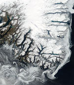 MODIS reflectance image of Southern Greenland