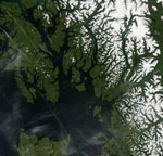 MODIS reflectance image of snow in British Columbia