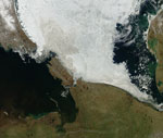 MODIS reflectance image of Sea Ice northeast of Russia