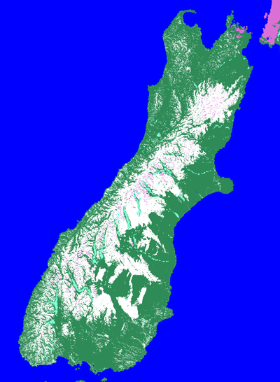 Southern Alps New Zealand Map.New Zealand 07 11 03