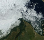 MODIS reflectance image of the Beaufort Sea