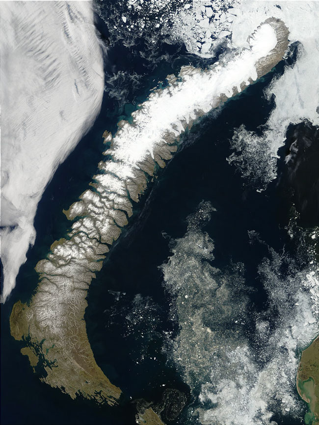 MODIS image of Northern Russia