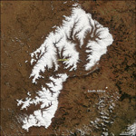MODIS reflectance image of Lesotho and South Africa