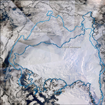 MODIS reflectance image of the Arctic