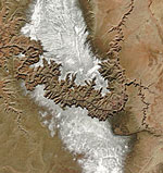 MODIS reflectance image of the Grand Canyon