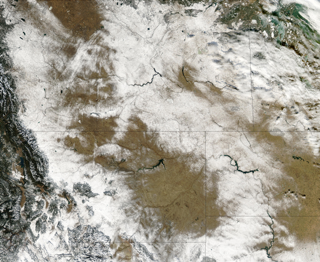 MODIS image of Canada and Northern US