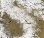 MODIS reflectance image of Canada and the Northern US
