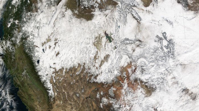 MODIS image of the Western US