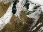 MODIS reflectance image of the Midwest U.S.