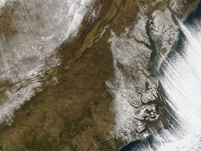 MODIS image of the Eastern United States