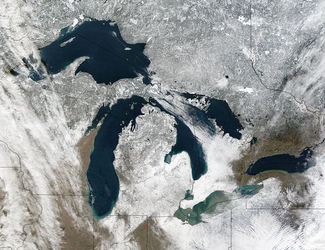 MODIS image of the Great Lakes