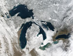 MODIS reflectance image of the Great Lakes