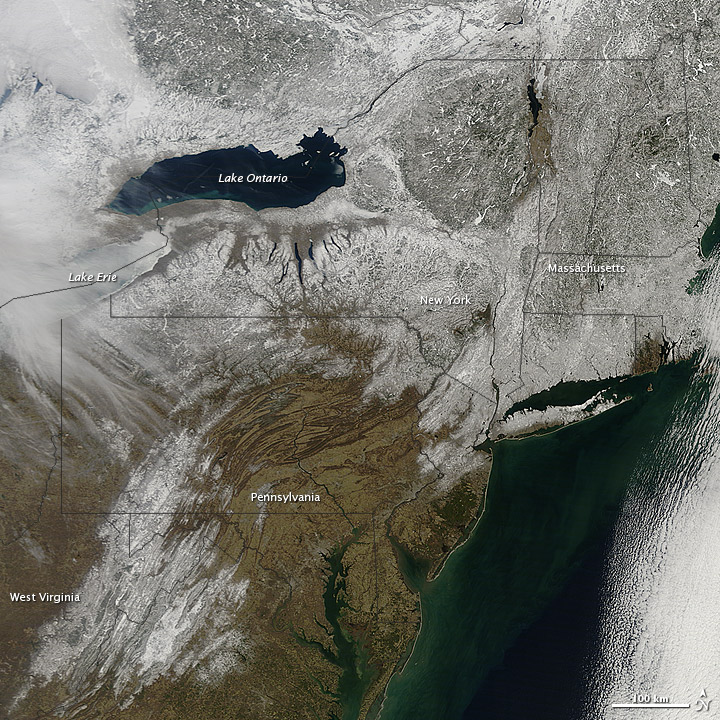 Snow Covering the Northeastern US