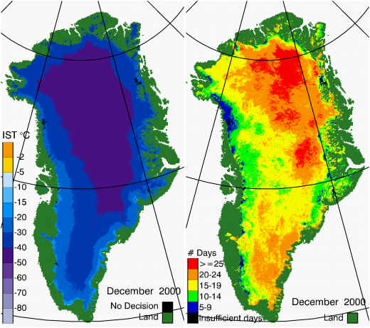 Greenland Surface Temp 12/2000