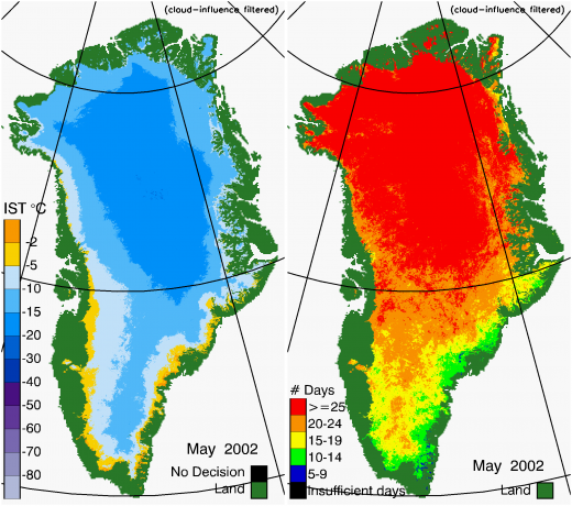 Greenland Surface Temp 05/2002
