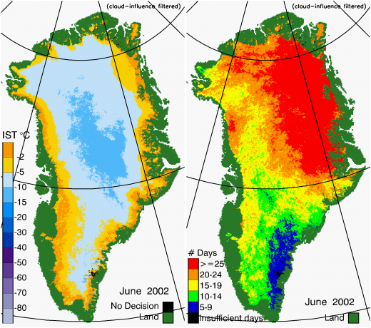 Greenland Surface Temp 06/2002