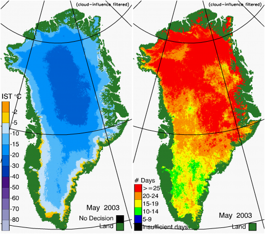 Greenland Surface Temp 05/2003