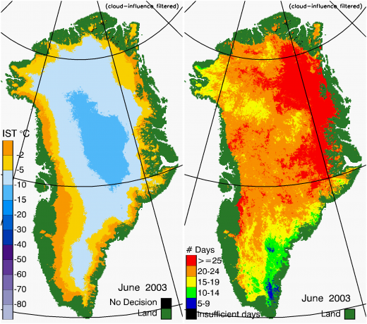 Greenland Surface Temp 06/2003