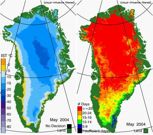 Greenland Surface Temp 05/2004