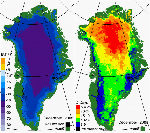 Greenland Surface Temp 12/2005