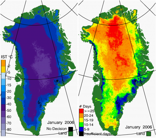 Greenland Surface Temp 01/2006