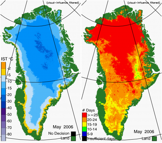 Greenland Surface Temp 05/2006