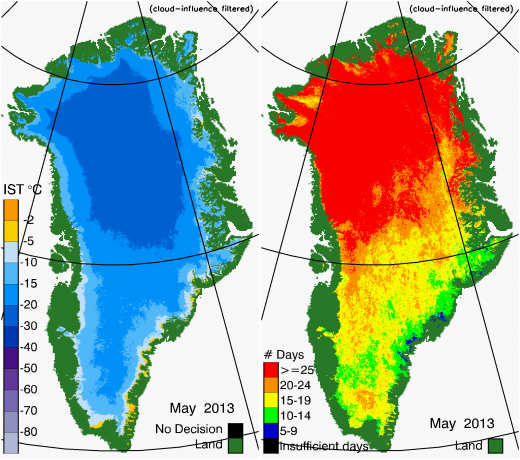 Greenland Surface Temp 05/2013