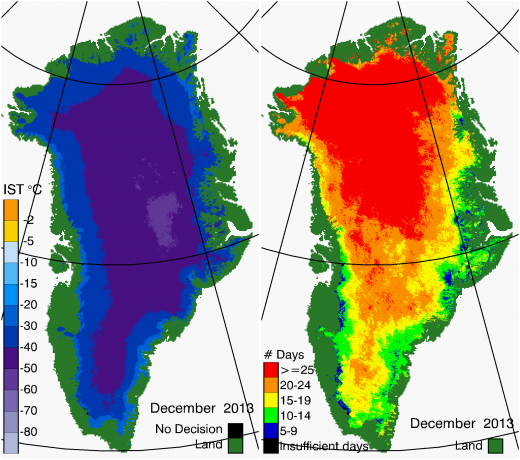 Greenland Surface Temp 12/2013