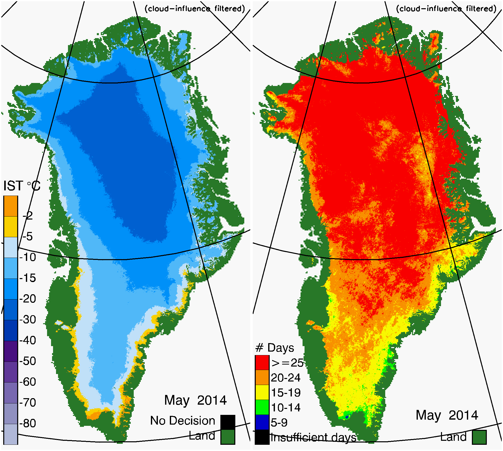 Greenland Surface Temp 05/2014