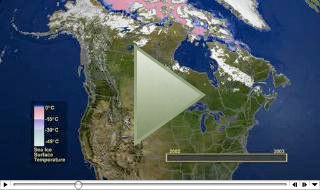 MODIS Snow Ice Global Mapping Project - Us snow coverage map